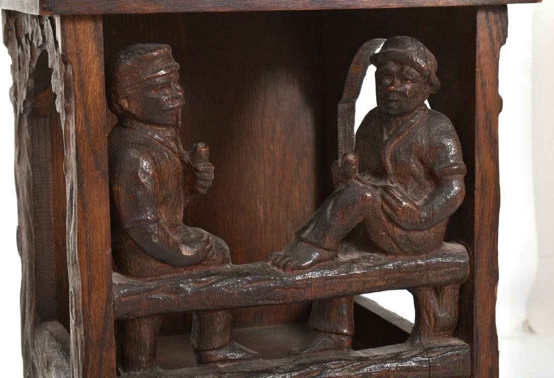 Black Forest Carved Smoking Stand - 3