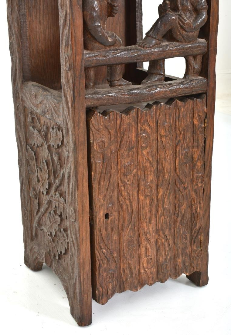 Black Forest Carved Smoking Stand - 4