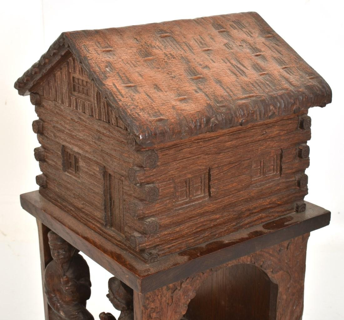 Black Forest Carved Smoking Stand - 5