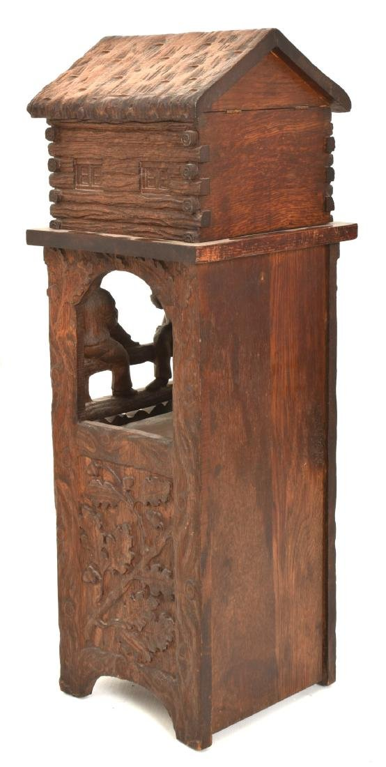 Black Forest Carved Smoking Stand - 7