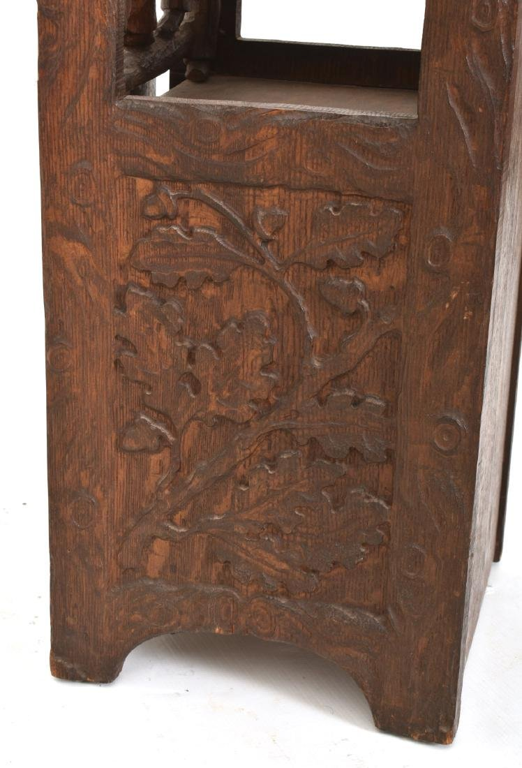 Black Forest Carved Smoking Stand - 8