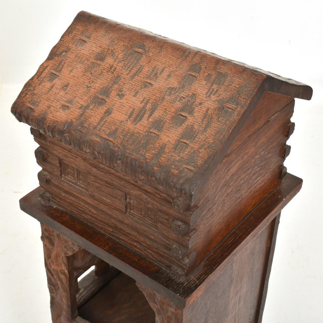 Black Forest Carved Smoking Stand - 9