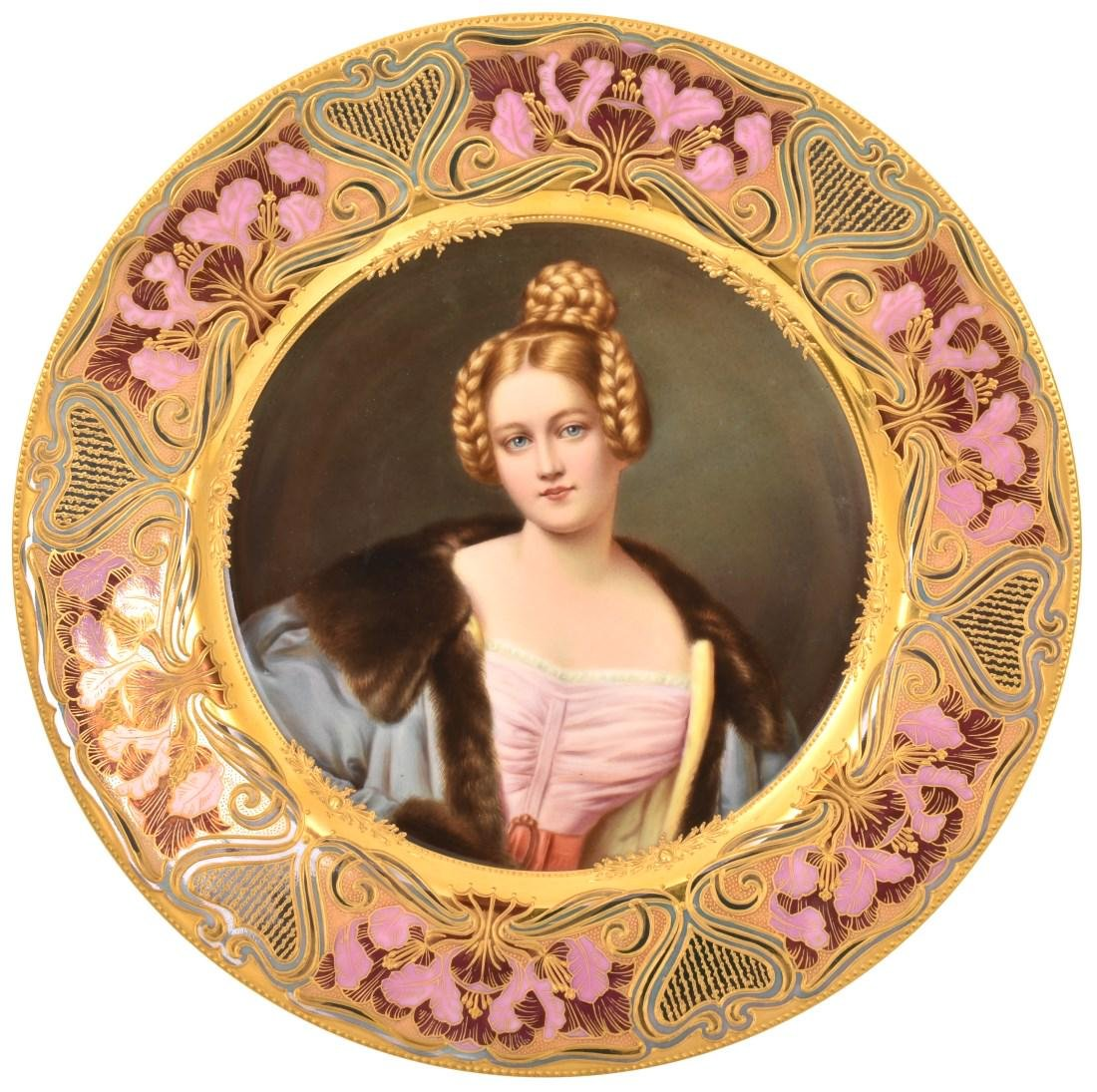 """9.5 in. Royal Vienna Plate """"Caroline von Holnstein"""