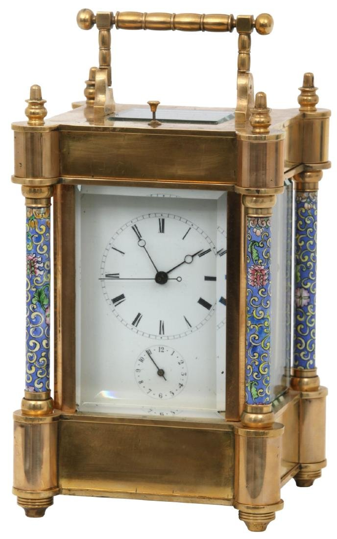 Lg. French Hour Repeater Carriage Clock