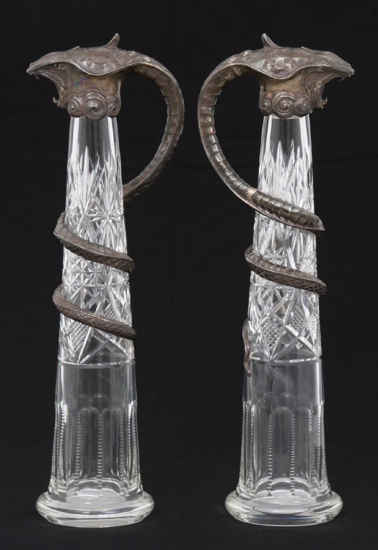 Pr. Russian Silver Mounted Pitchers - 2