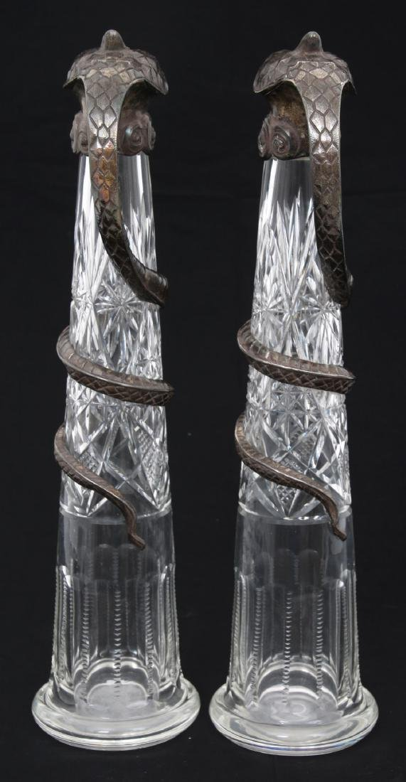 Pr. Russian Silver Mounted Pitchers - 3