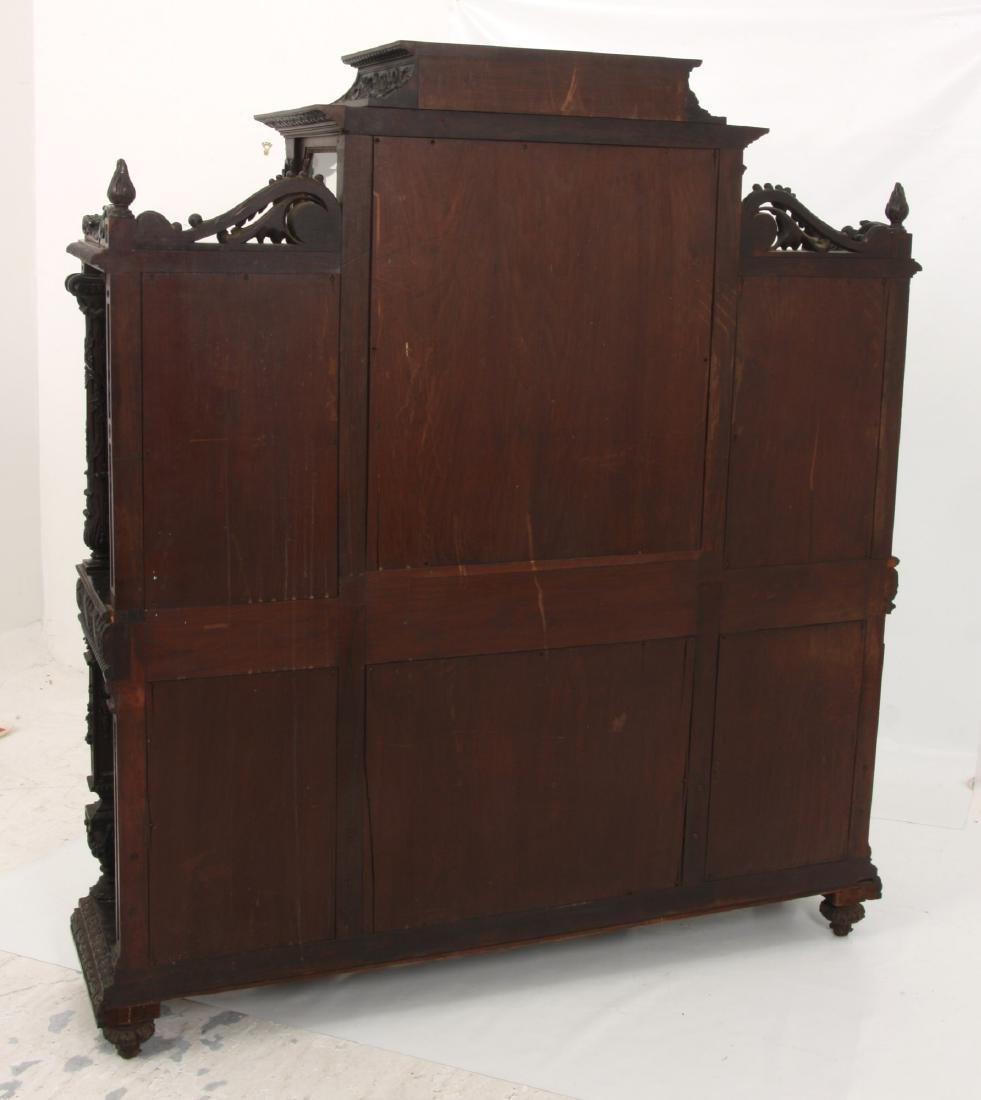 Carved Rosewood Crystal Cabinet - 10