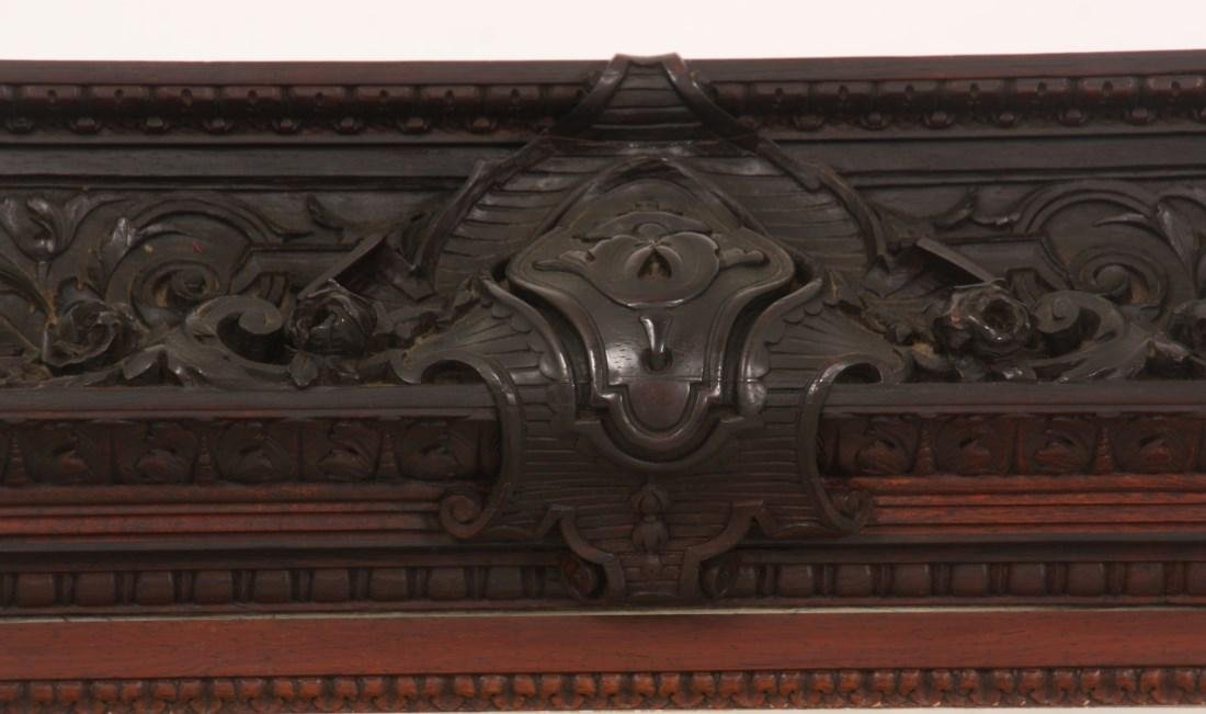 Carved Rosewood Crystal Cabinet - 2