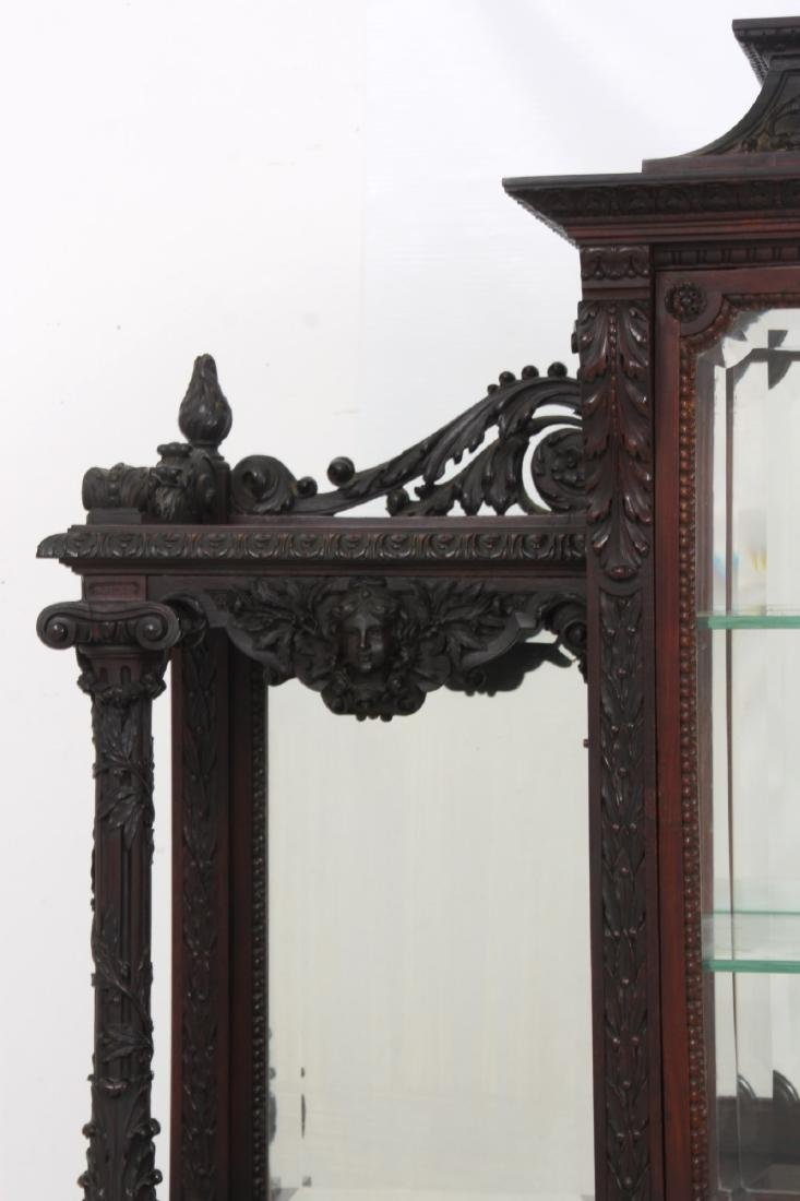 Carved Rosewood Crystal Cabinet - 3
