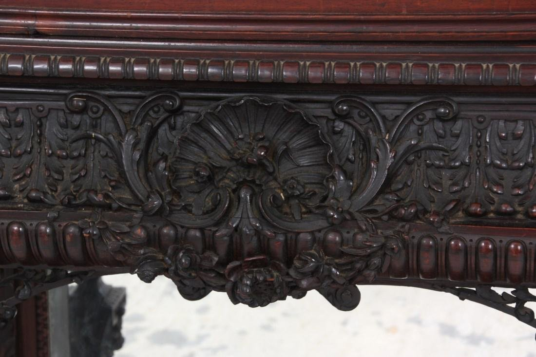 Carved Rosewood Crystal Cabinet - 7