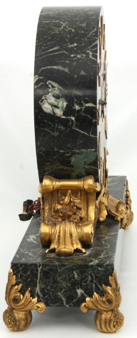 Caldwell Bronze Mounted Marble Mantle Clock - 6