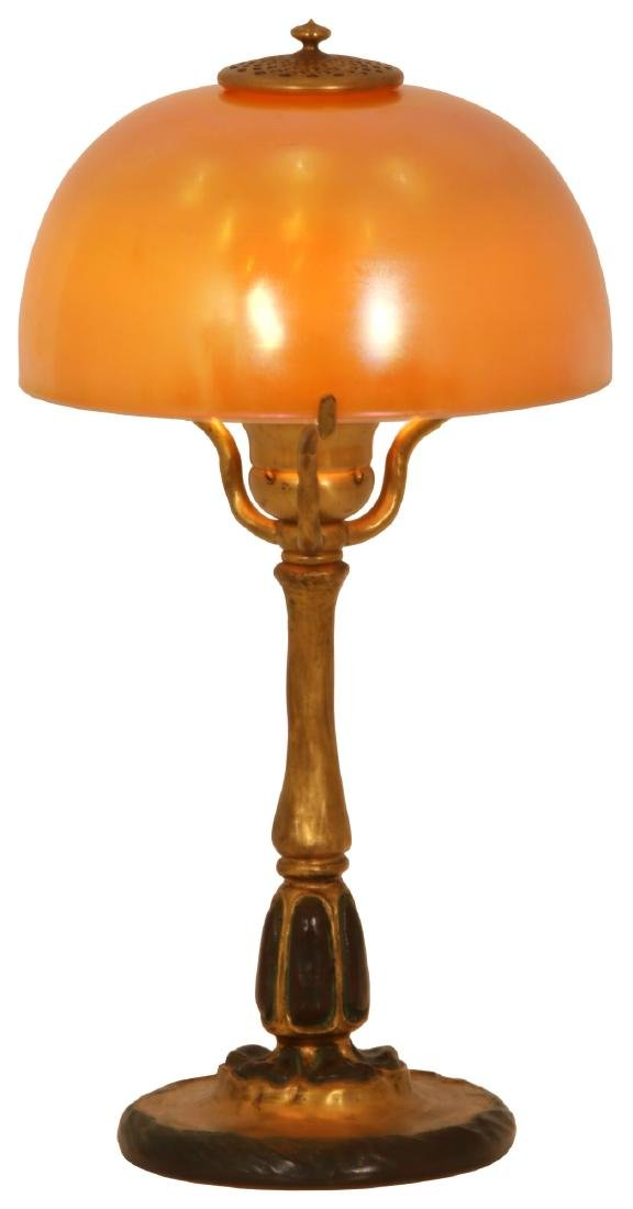 8 in. Tiffany Favrile Gold Iridescent Lamp