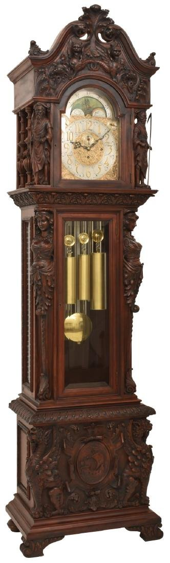 Horner Mahogany 9 Tube Grandfather Clock