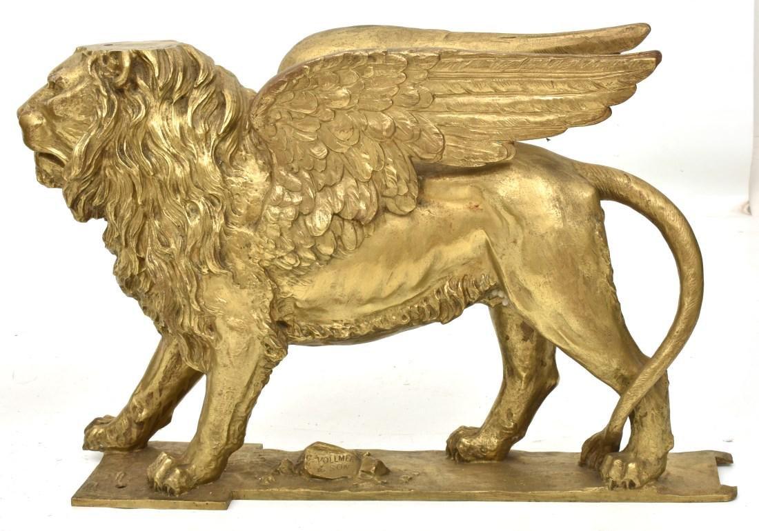Pr. Figural Bronze Winged Lions - 3