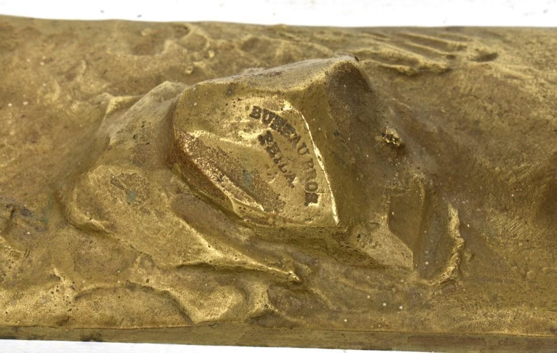Pr. Figural Bronze Winged Lions - 5