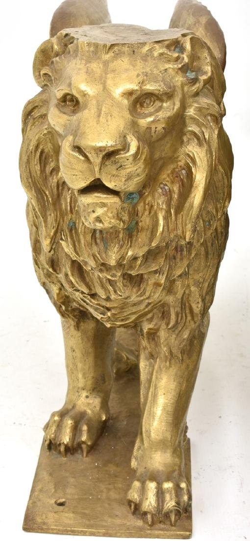 Pr. Figural Bronze Winged Lions - 8