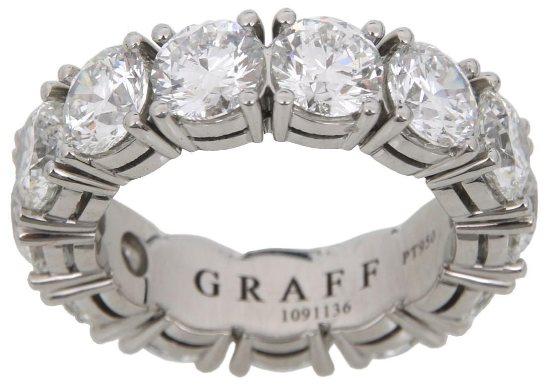 Graff Platinum & 13 Diamond Ring