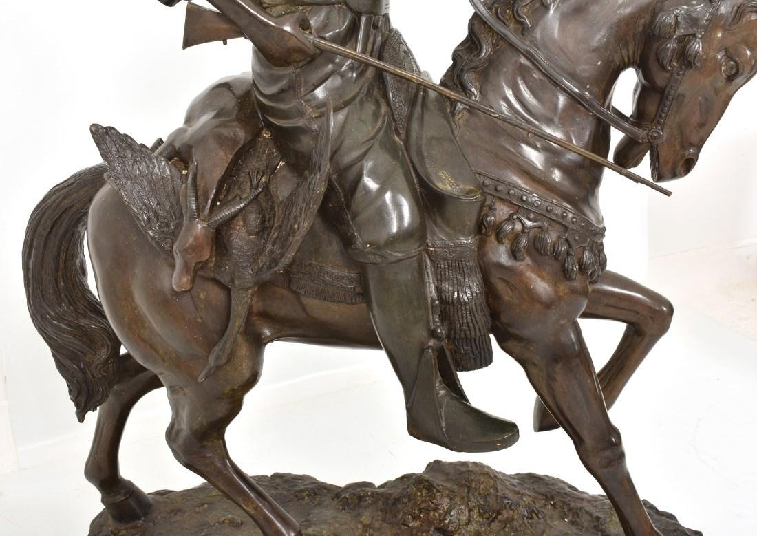 Monumental 49 in. Arab On Horseback Bronze - 5