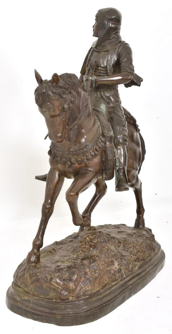 Monumental 49 in. Arab On Horseback Bronze - 6