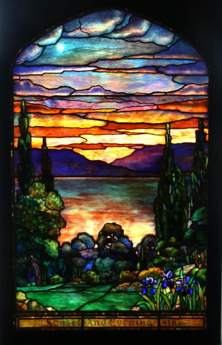Attr. Tiffany Studios Landscape Window