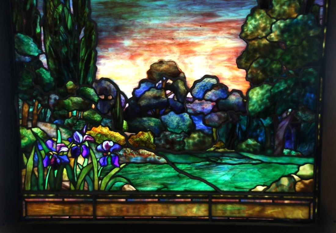 Attr. Tiffany Studios Landscape Window - 2