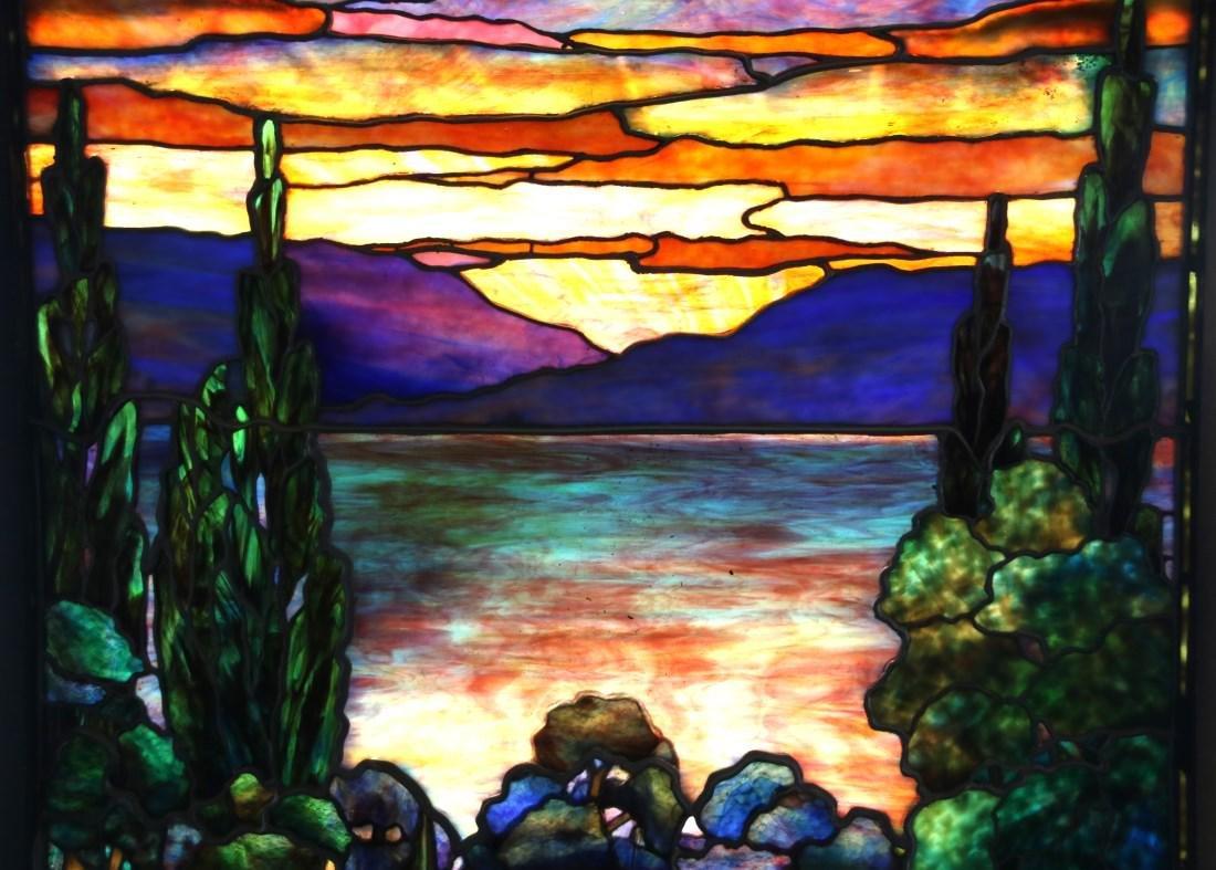 Attr. Tiffany Studios Landscape Window - 3