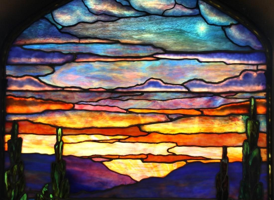 Attr. Tiffany Studios Landscape Window - 4