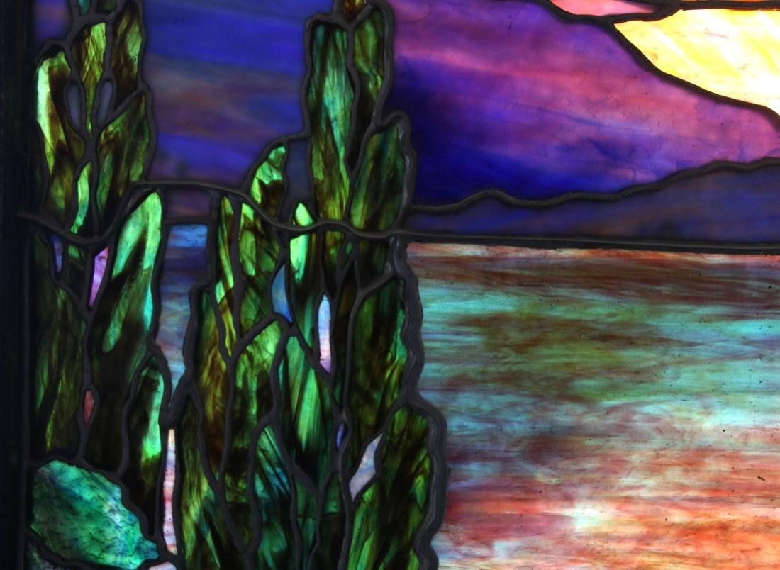 Attr. Tiffany Studios Landscape Window - 6