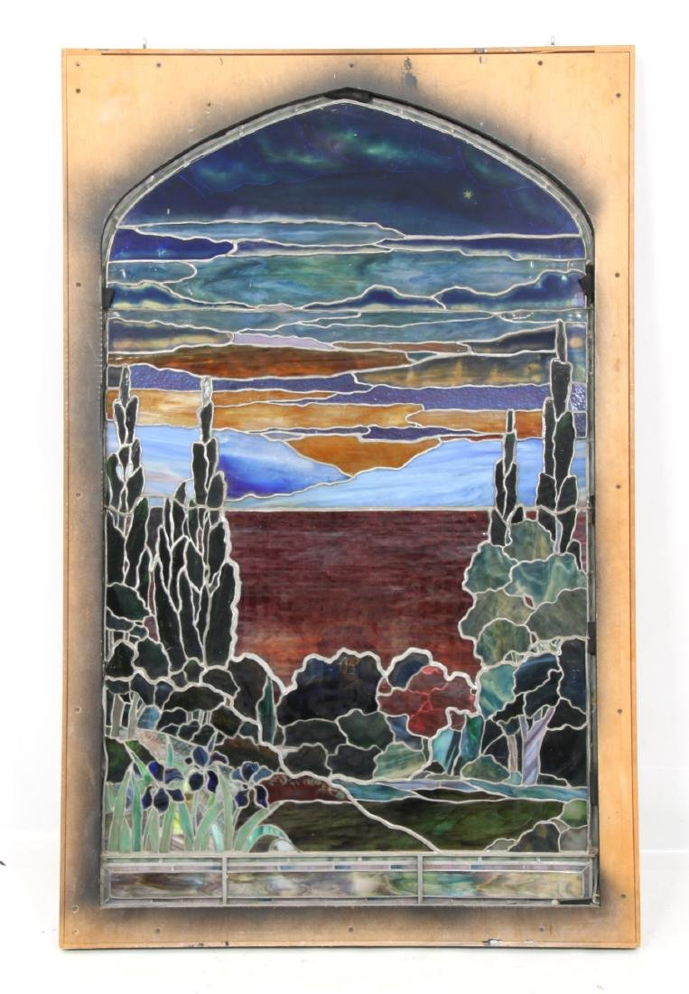 Attr. Tiffany Studios Landscape Window - 7