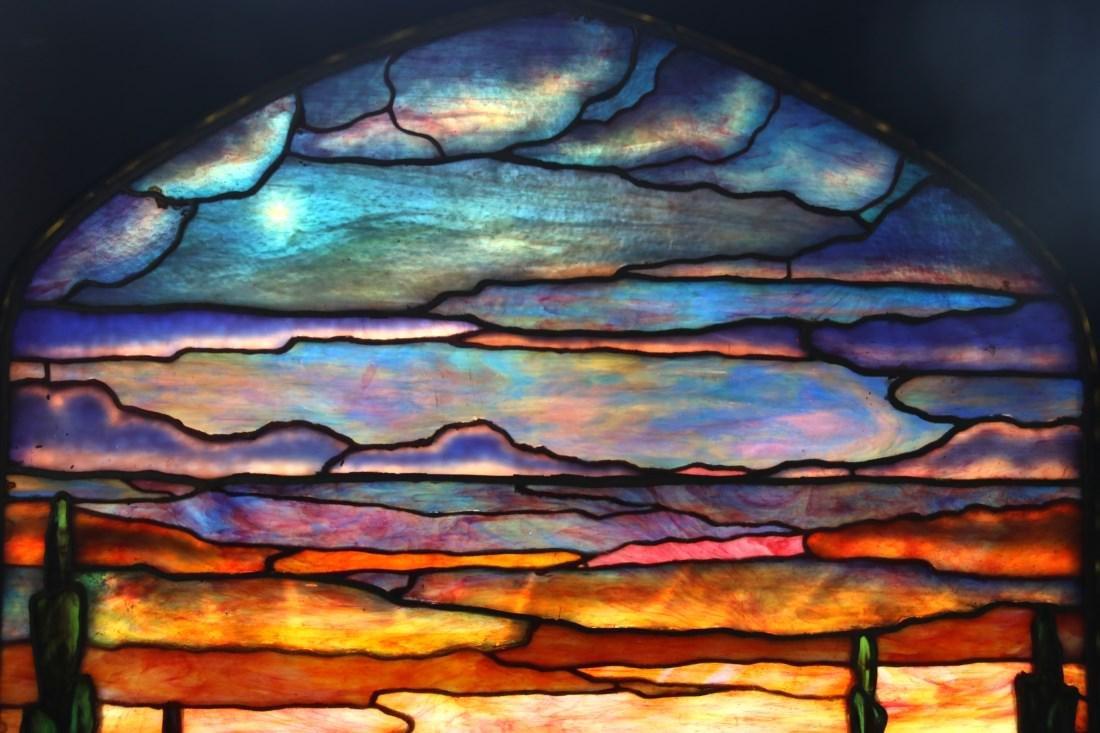 Attr. Tiffany Studios Landscape Window - 8