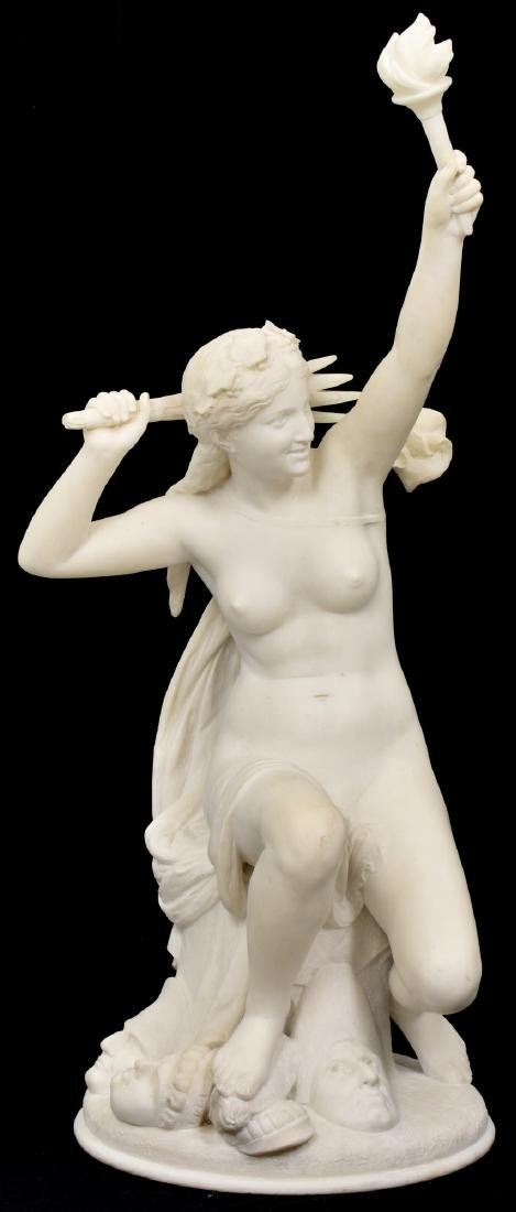 C. Capellaro Carved Marble Sculpture