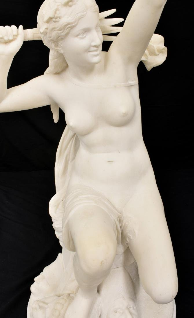 C. Capellaro Carved Marble Sculpture - 4