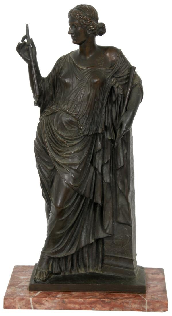 F. Barbedienne Bronze Sculpture Of Euterpe