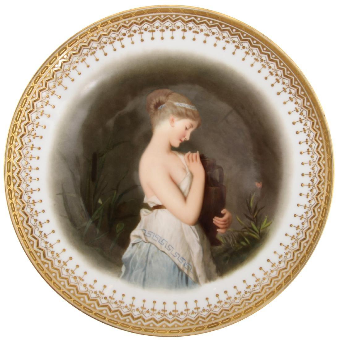 KPM Hand Painted Portrait Plate