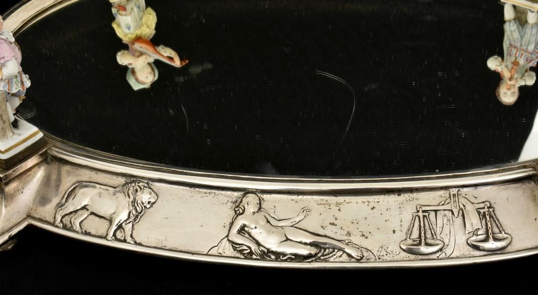 Oval Silver Plated Surtout de Table Plateau - 10