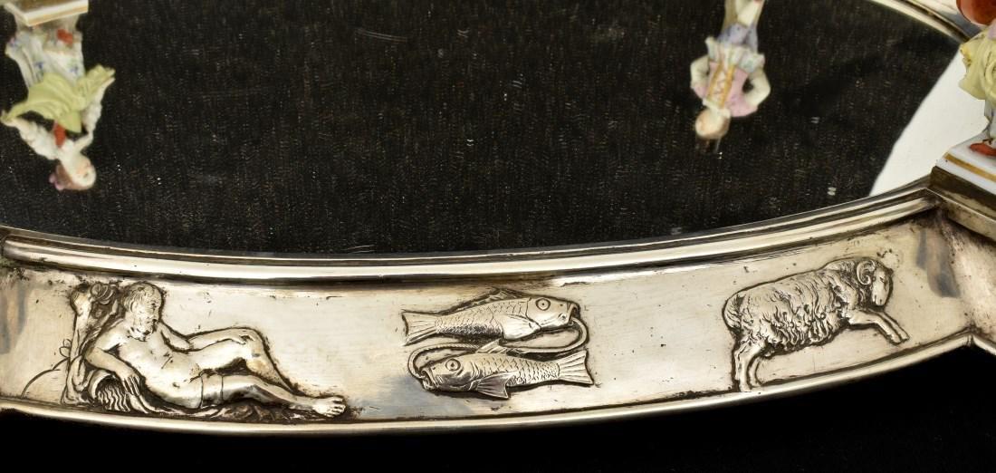 Oval Silver Plated Surtout de Table Plateau - 6