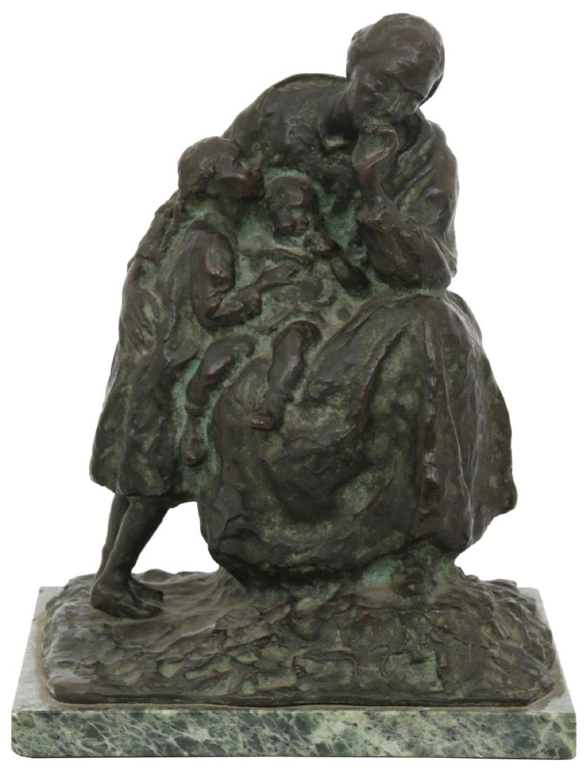 Franco Bargiggia Bronze Mother And Children