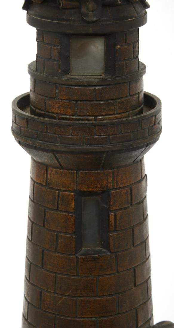 Figural Lighthouse & Keeper Lamp - 5