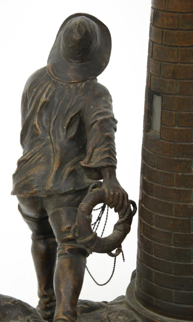 Figural Lighthouse & Keeper Lamp - 8