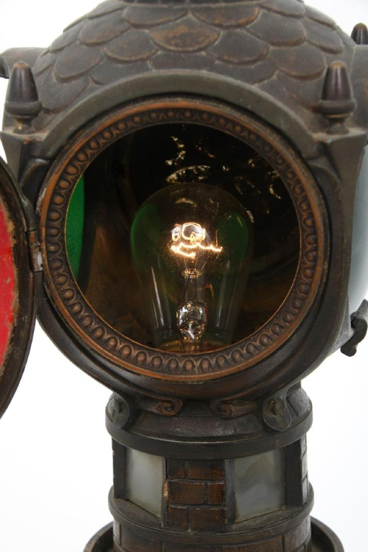 Figural Lighthouse & Keeper Lamp - 9