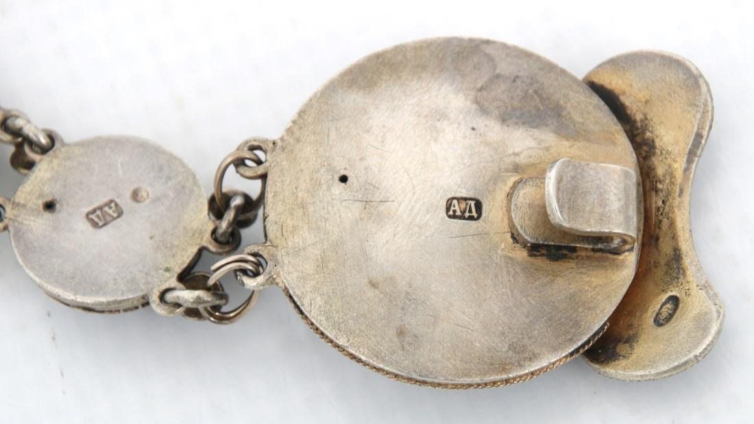 Russian Enameled Silver Belt - 4