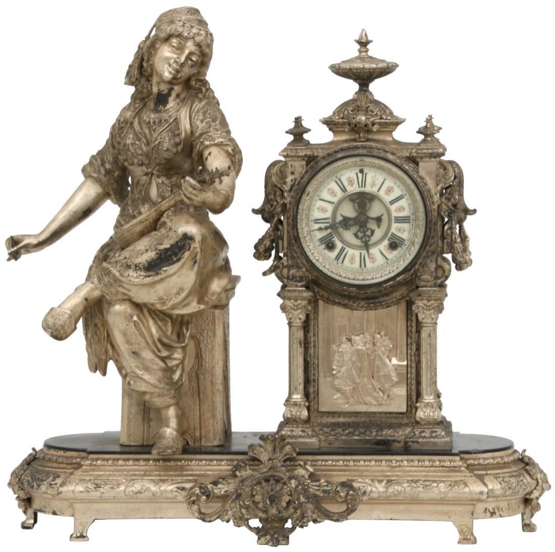 "Ansonia Figural Mantle Clock ""Aida"""