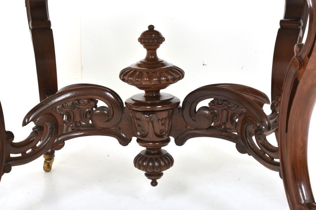 J & JW Meeks Rosewood Marble Top Table - 7