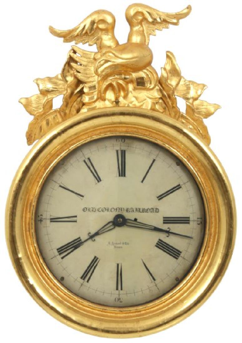 18 in. E. Howard Gilded Eagle Gallery Clock