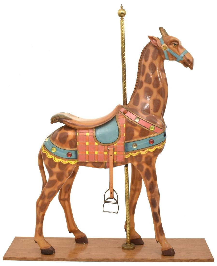 Charles Looff Jeweled Carousel Giraffee