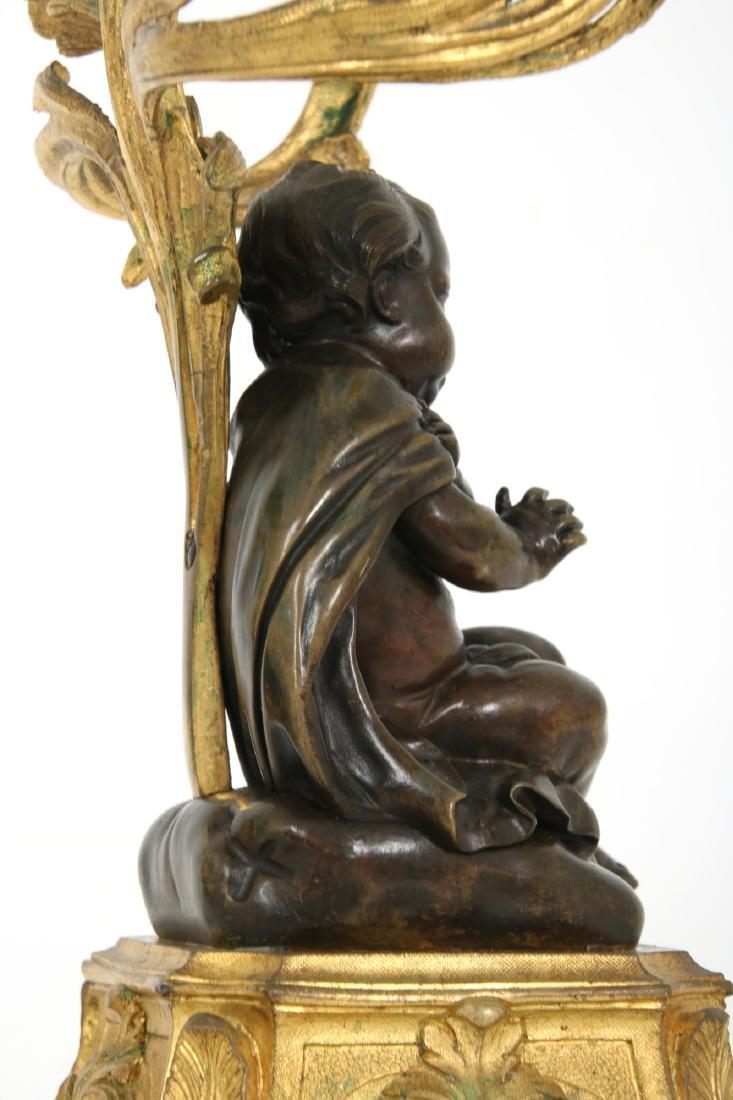 Pr. Bronze Figural Putti Candelabras - 10