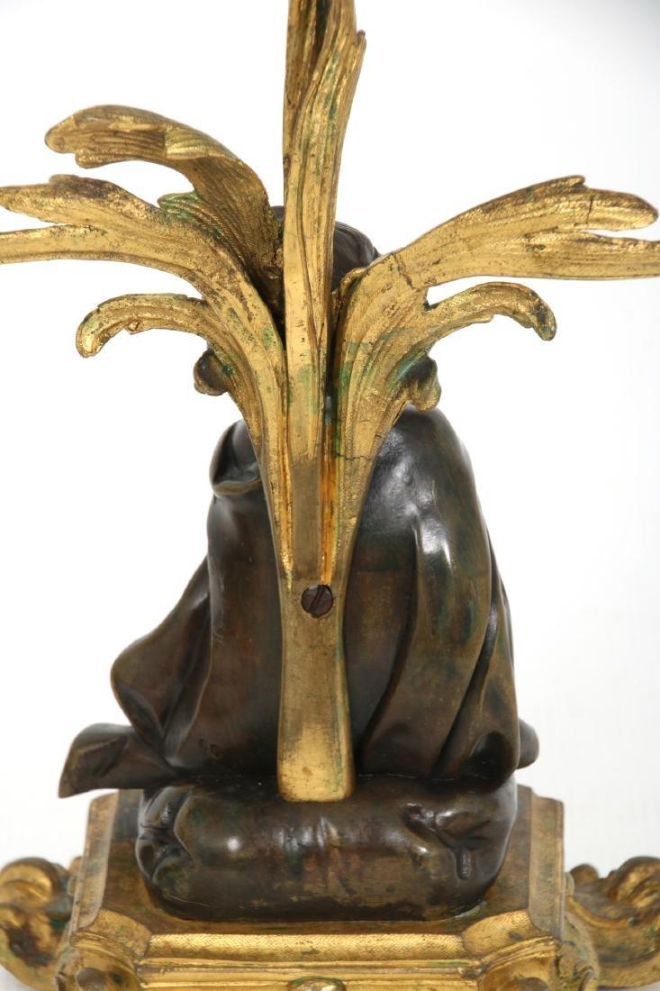 Pr. Bronze Figural Putti Candelabras - 3