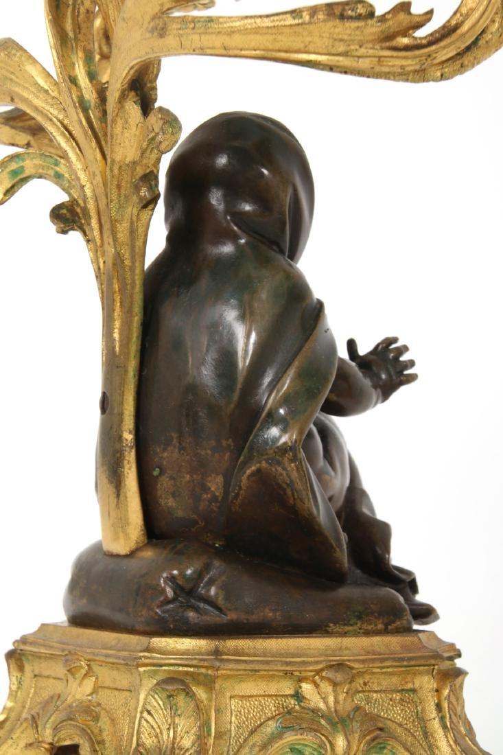 Pr. Bronze Figural Putti Candelabras - 7