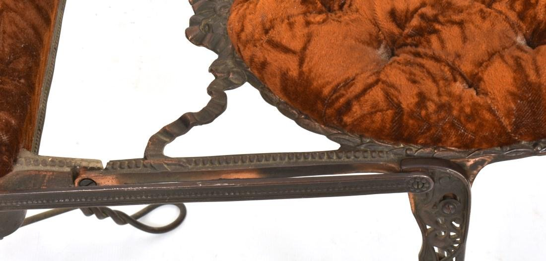 Unusual Mechanical Cast Iron Piano Stool - 10