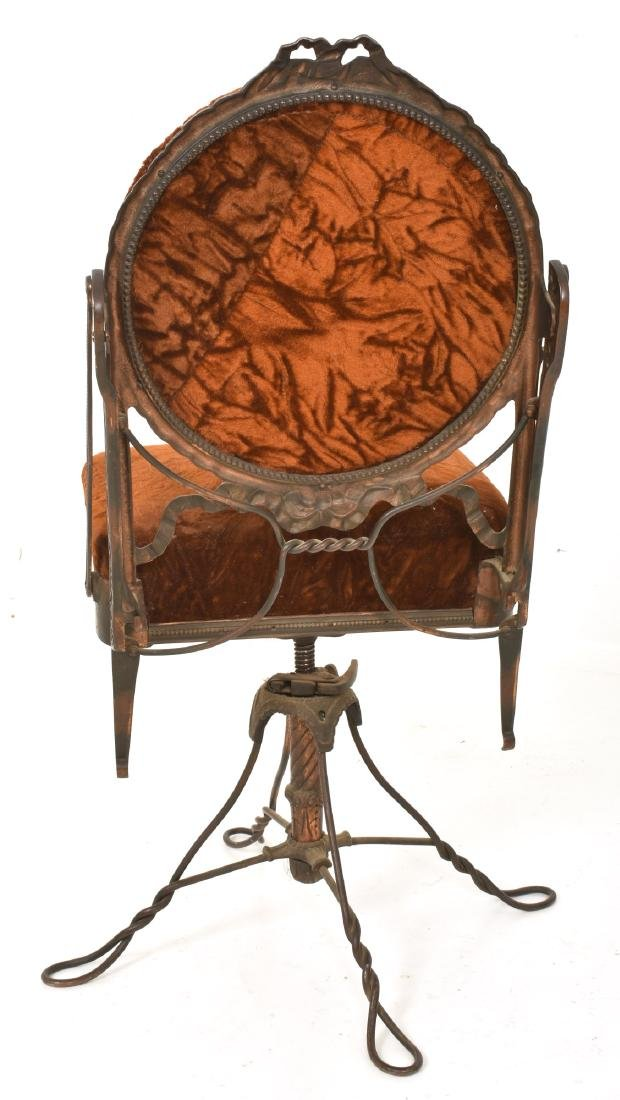 Unusual Mechanical Cast Iron Piano Stool - 3